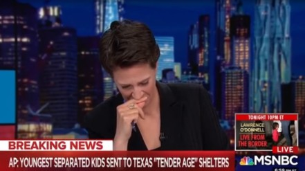 Rachel Maddow cries - Trump migrant asylum seeker family separation - MSNBC