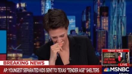 Rachel Maddow cries - Trump migrant asylum seeker family separation - MSNBC