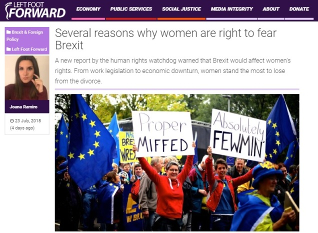 Brexit - gender equality - womens rights - identity politics - EU - European Union