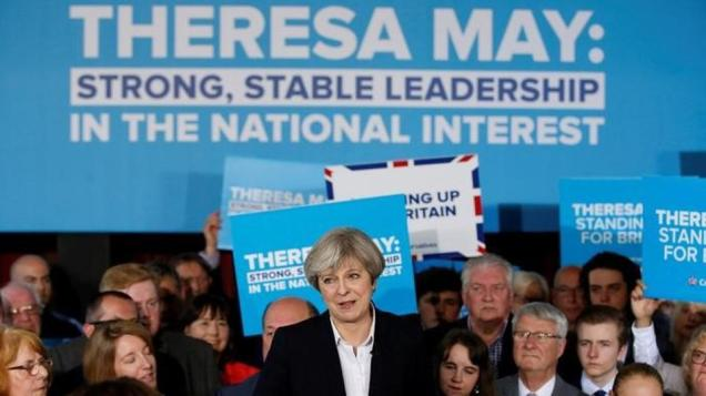 Conservative Party Tory policy renewal - Strong and stable leadership in the national interest - Theresa May 2