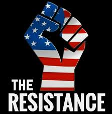 The Resistance - Clenched fist protest - US flag