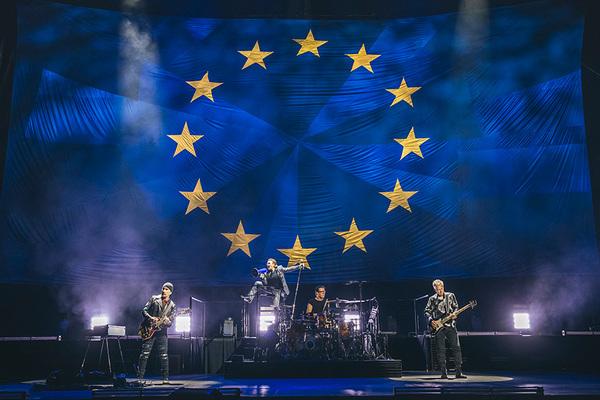 Bono U2 EU flag Brexit virtue signaling