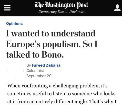 Fareed Zakaria Bono Populism Brexit