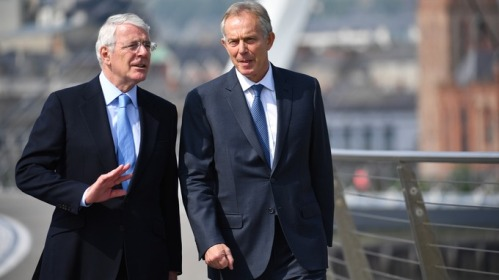 Tony Blair and John Major warn against Brexit