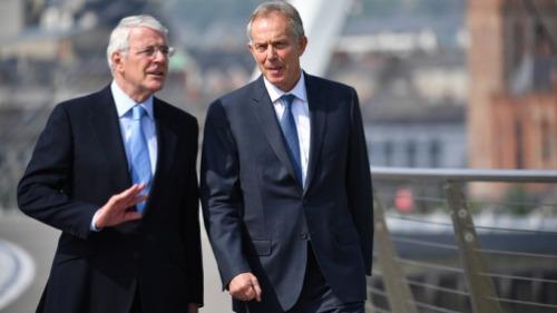 Tony Blair and John Major warn against Brexit