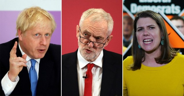General election 2019 - Boris Johnson - Jeremy Corbyn - Jo Swinson